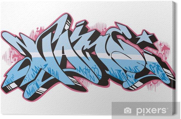 Graffito Canvas Print - Wall decals