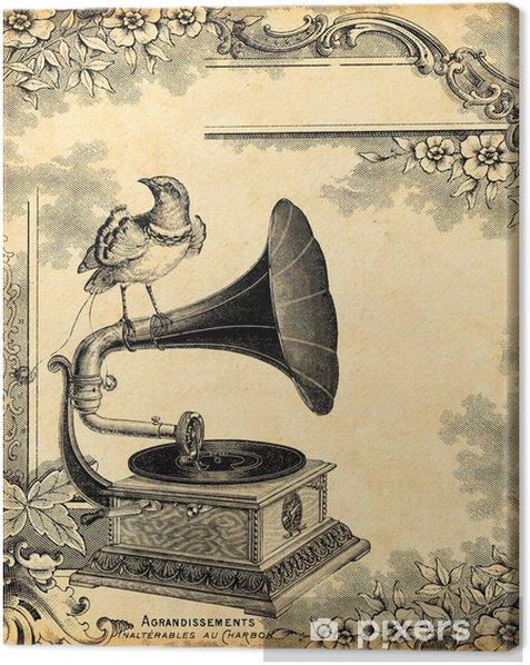 gramophone 1900 Canvas Print - Styles