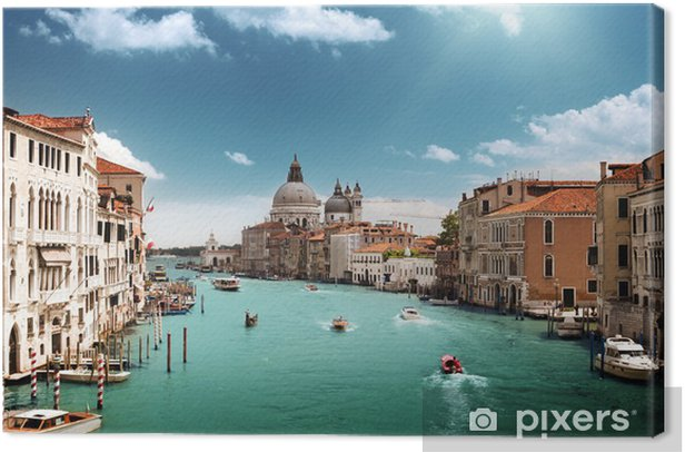 Grand Canal and Basilica Santa Maria della Salute, Venice, Italy Canvas Print - Themes