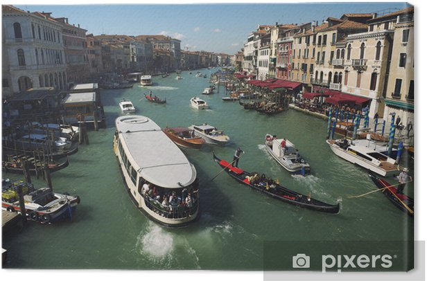 Grand Canal Venice Morning View Canvas Print - Holidays