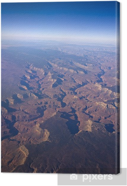 Grand Canyon and the curvature of the earth Canvas Print
