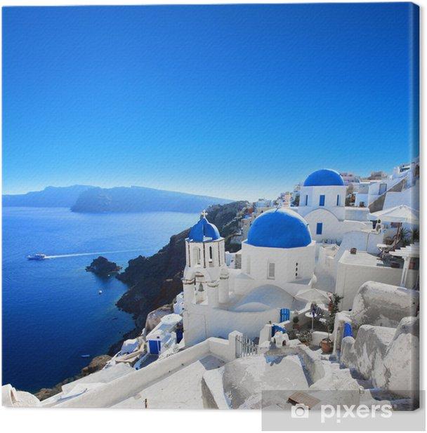 Grèce - Santorin (Oia village) Canvas Print - Themes