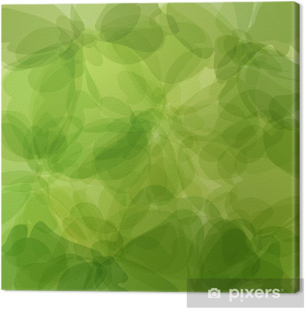 Green Background Watercolor Painting Canvas Print - Abstract