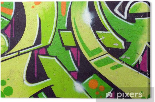 green graffiti Canvas Print - Themes