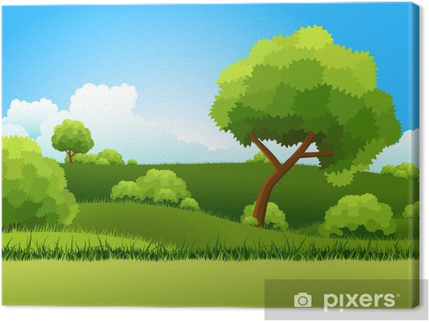 Green hills Canvas Print - Seasons