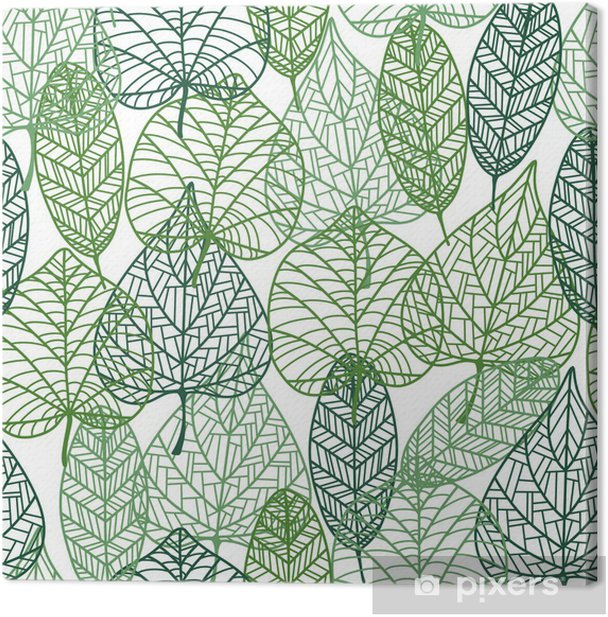 Green leaves seamless pattern Canvas Print - Styles