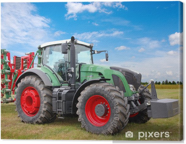 Green tractor Canvas Print - Themes