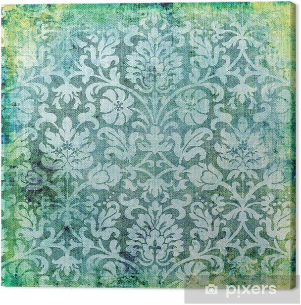 green vintage lacy background Canvas Print - Themes