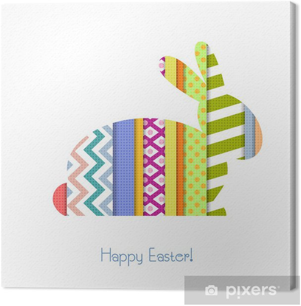 Greeting card with Easter Bunny Canvas Print - International Celebrations