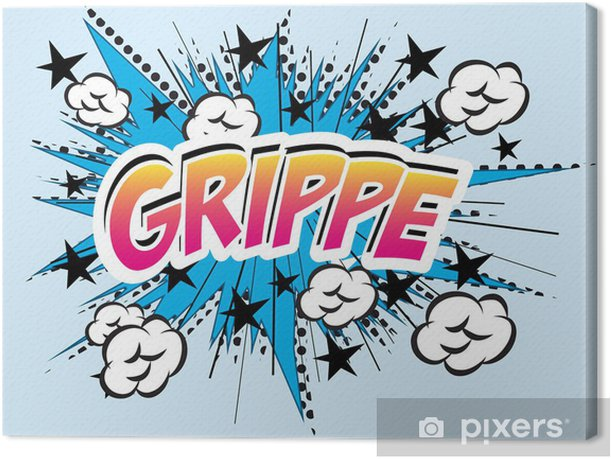 Grippe flu comics Canvas Print - Themes