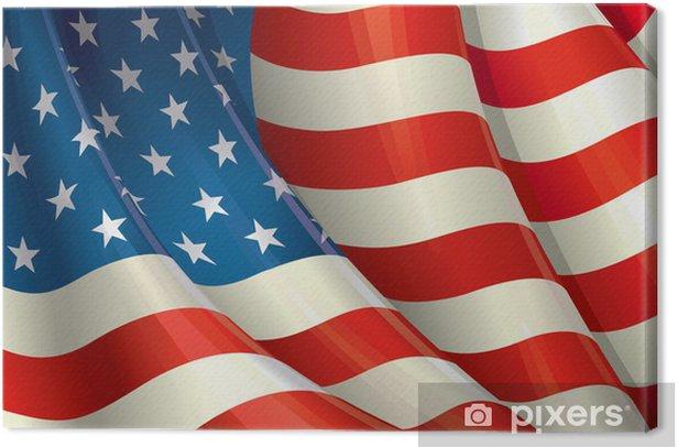 Grunge American Flag Canvas Print - Themes