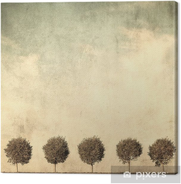 grunge image of trees Canvas Print - Styles