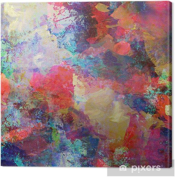 grunge mixed media Canvas Print - Styles