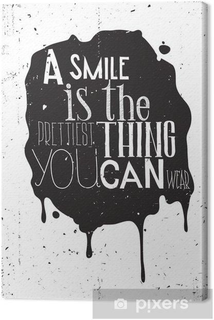 Grunge motivation poster Canvas Print - Styles