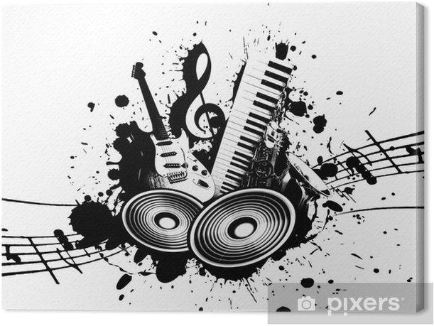 Grunge Music Canvas Print - Jazz