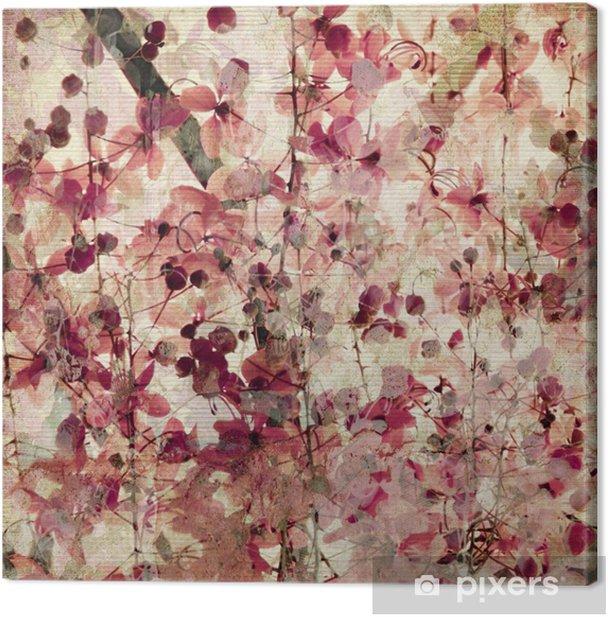 Grunge pink blossom background Canvas Print -