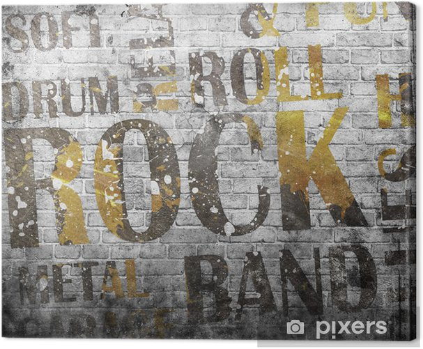 Grunge rock music poster Canvas Print - Rock