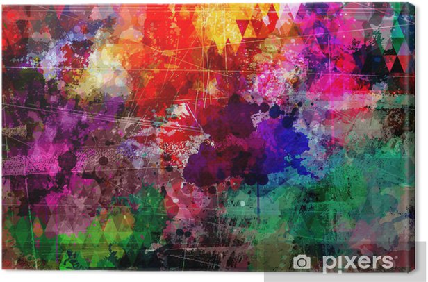 Grunge style abstract watercolor background Canvas Print - Themes