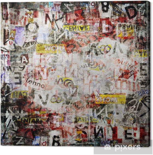 Grunge textured background Canvas Print - Themes