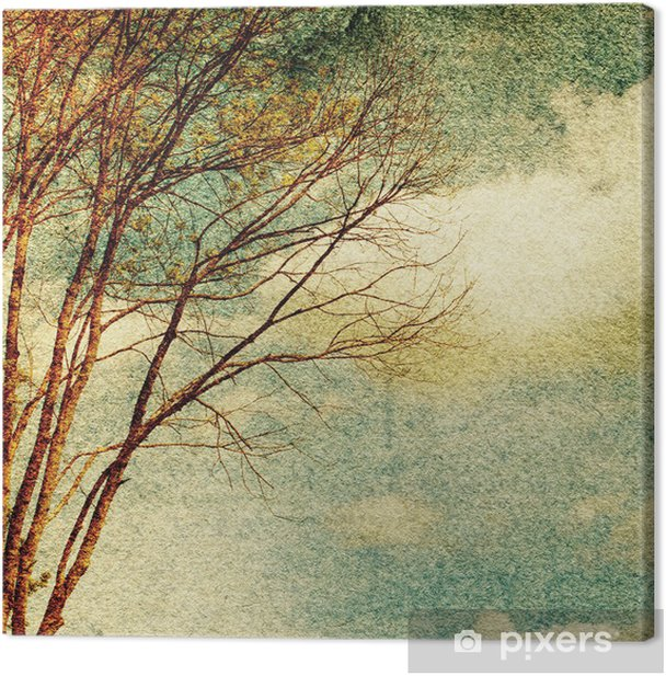 Grunge vintage nature background Canvas Print - Themes