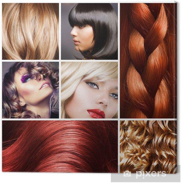 Hair Collage. Hairstyles Canvas Print - Destinations