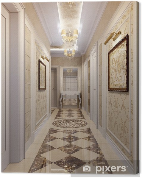 Hallway in luxury style Canvas Print - iStaging