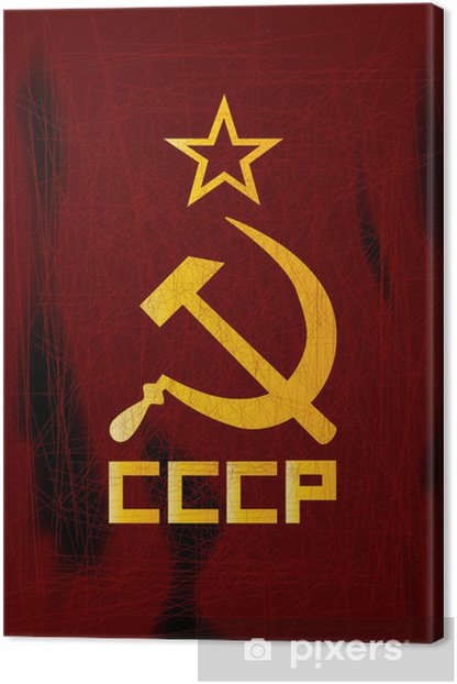 Hammer and Sickle Canvas Print - Raw Materials
