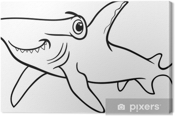 Hammerhead Shark Coloring Book Canvas Print