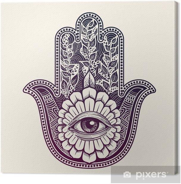 Hamsa. hand of Fatima, good luck symbol Canvas Print - Culture and Religion