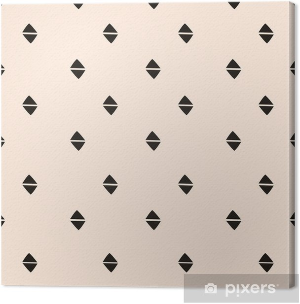 Hand Drawn Abstract Seamless Pattern Canvas Print - Graphic Resources