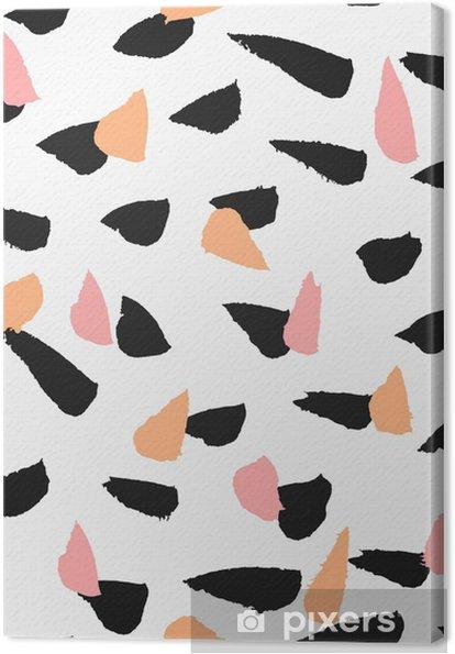 Hand Drawn Brush Strokes Seamless Pattern Canvas Print - Styles