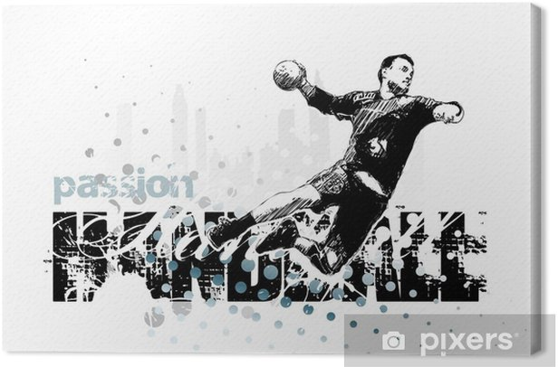 handball 1 Canvas Print - Team Sports