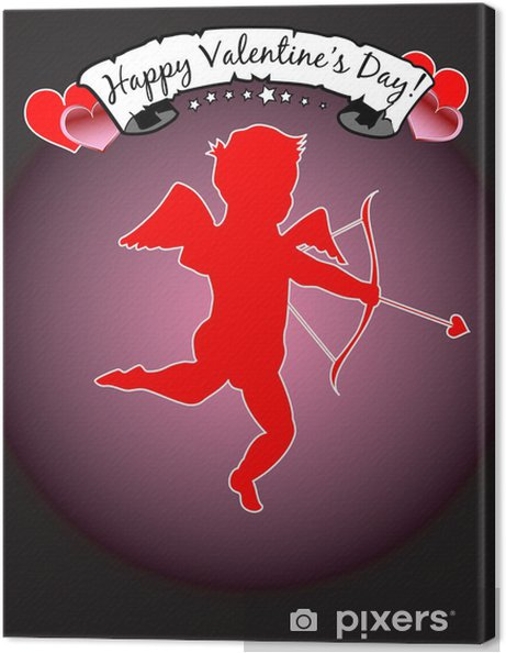 Happy Valentine S Day With Cupid Eps 8 Clip Art Jpeg Canvas