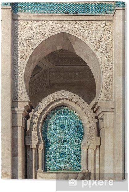 Hassan II mosque, Casablanca Morocco Canvas Print - Africa