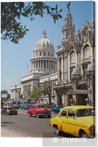 Havana Capitolio, Cuba Canvas Print - Cuba