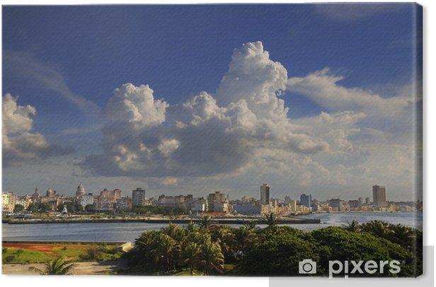Havana cityscape from El Morro Fortress Canvas Print - Themes