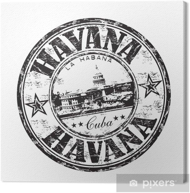 Havana grunge rubber stamp Canvas Print - America