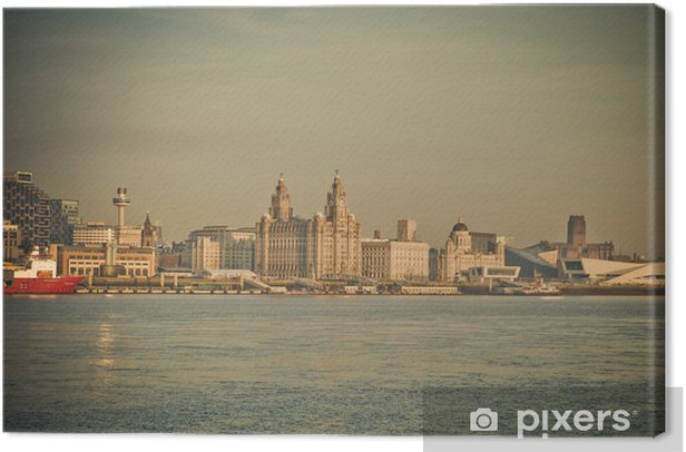 Hazy Liverpool Canvas Print - Europe