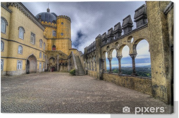 HDR image of Pena Palace, Sintra Canvas Print - Europe