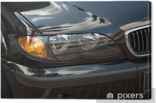 head lights of a car Canvas Print - Themes