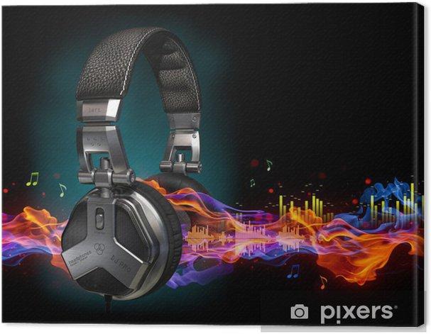 Headphones Canvas Print - Music