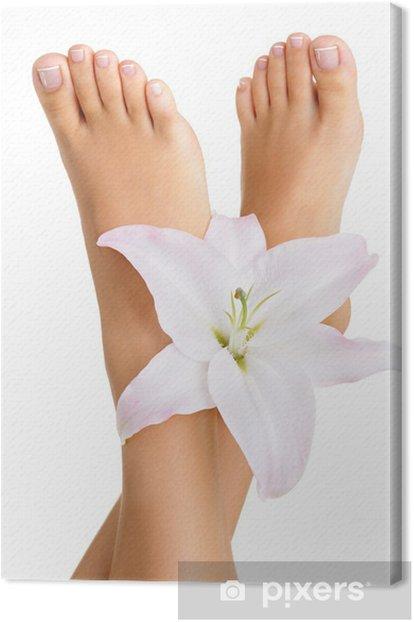 Healthy and elegant female feet Canvas Print - Destinations