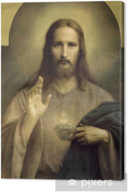 heart of Jesus Christ Canvas Print - Themes