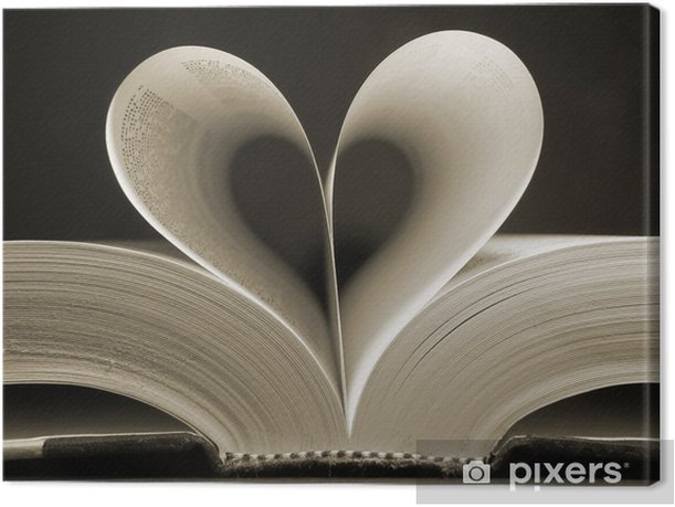 heart shaped book Canvas Print - iStaging