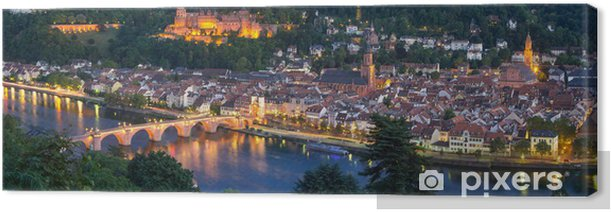 Heidelberg Panorama bei Nacht Canvas Print - Europe