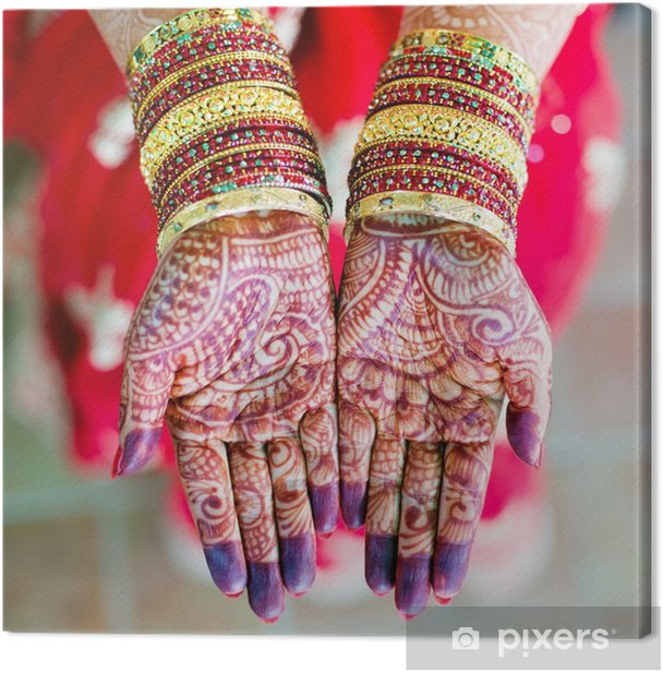 Henna Wedding Design Canvas Print Pixers We Live To Change
