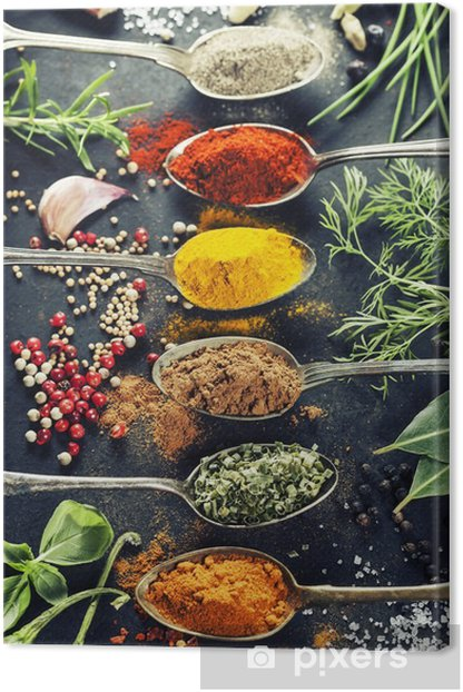 Herbs and spices selection Canvas Print - Herbs