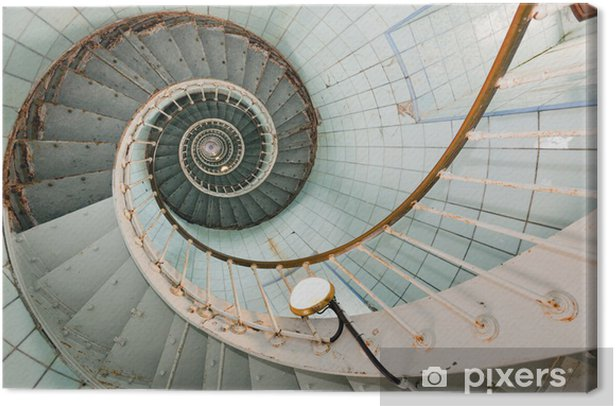 high lighthouse stairs Canvas Print - Infrastructure