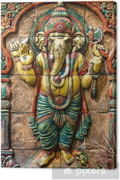 Hindu ganesha God at temple in thailand Canvas Print - Backgrounds