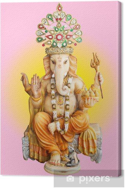 Hindu God Ganesha Canvas Print - Asia